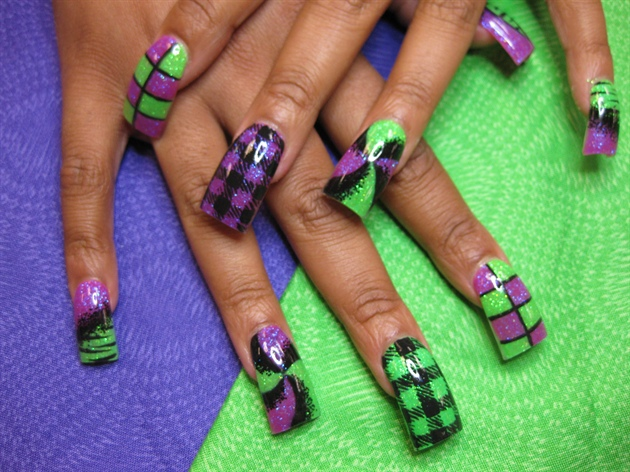 15 L Purple Nail Designs Images