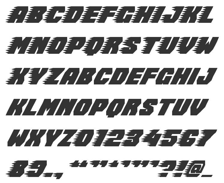 11 Racing Style Fonts Images