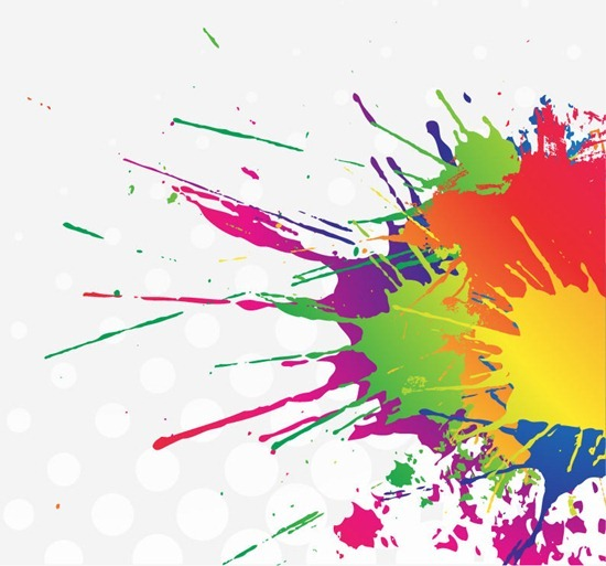 Rainbow Paint Splatter Clip Art