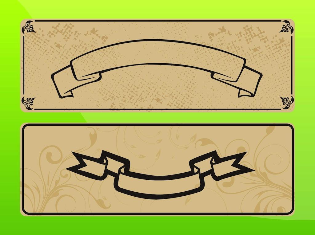 Ribbon Banner Vector Designs