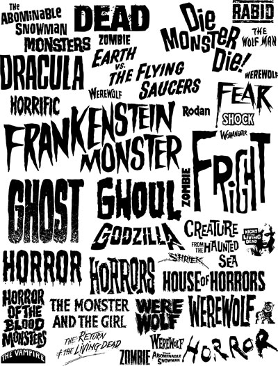 10 Old Horror Movie Font Images
