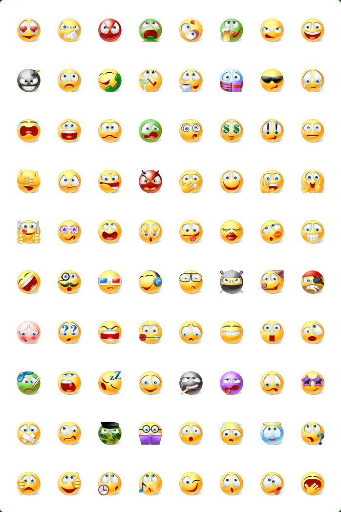 16 Emoticons Icons Images