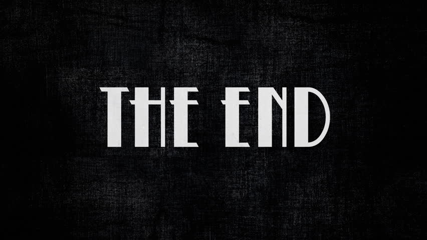 The End Retro Vintage Movies