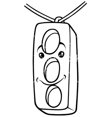 Traffic Stop Light Coloring Page