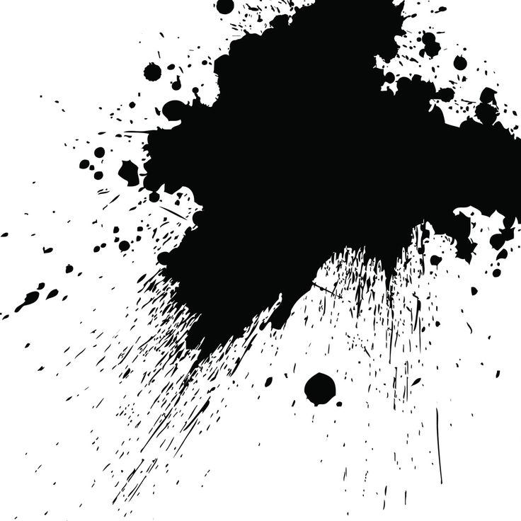 Transparent Black Splatter Paint
