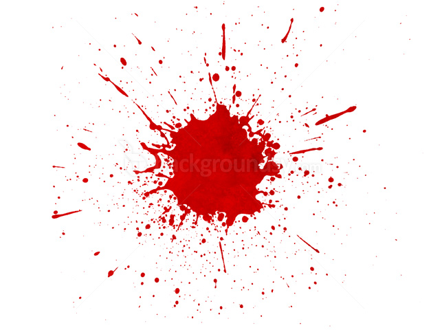 Transparent Red Paint Splatter