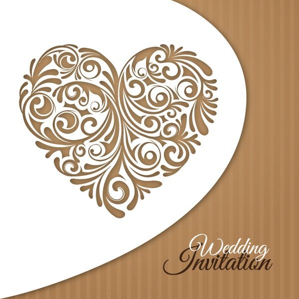 14 Wedding Invitation Design Vector Images