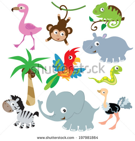 Vector Jungle Animals