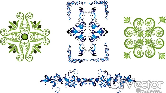 Vector Lace Pattern Border