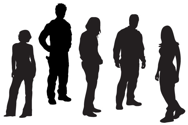 16 Person Silhouette Vector Free Images