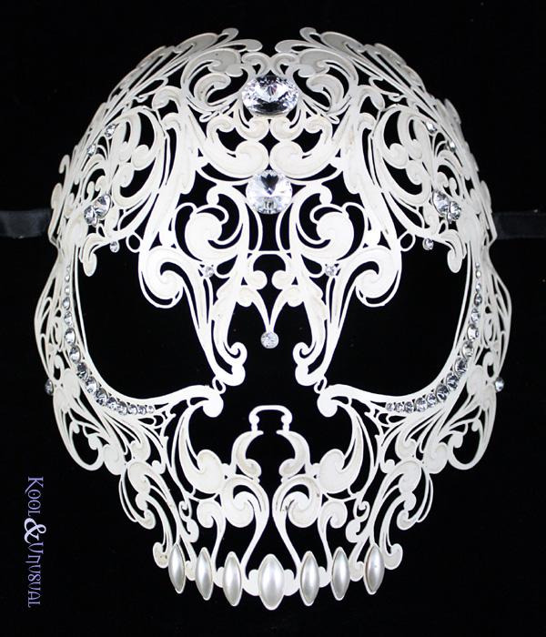 5 Skull Half Face PSD Images