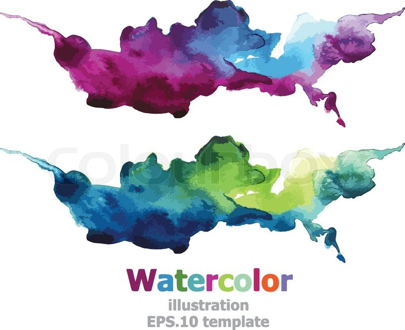 Watercolor Splatter Vector