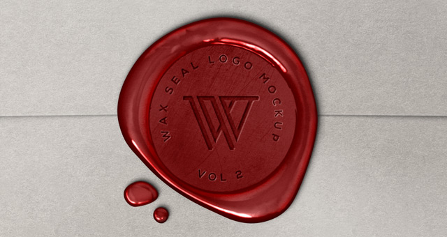 10 Wax Seal Stamp PSD Images