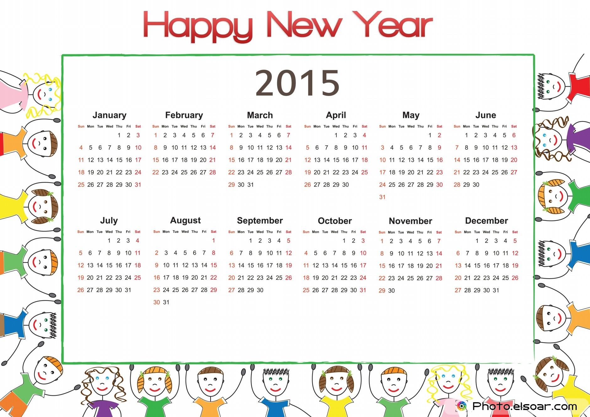 2015 Monthly Calendar Design