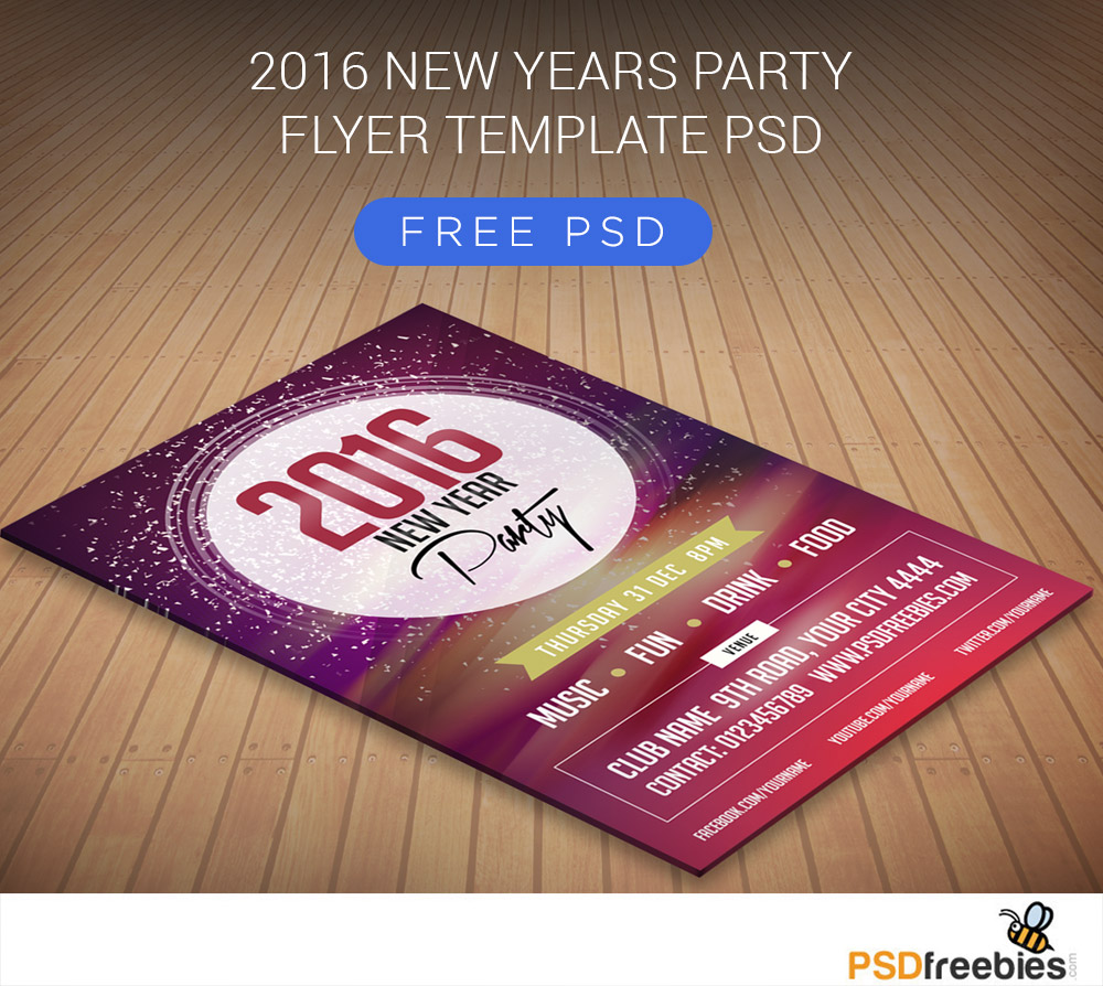2016 New Year's Party Flyer