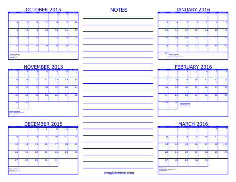 12 Printable 2015 Monthly Calendar Designs Images 2016 Printable