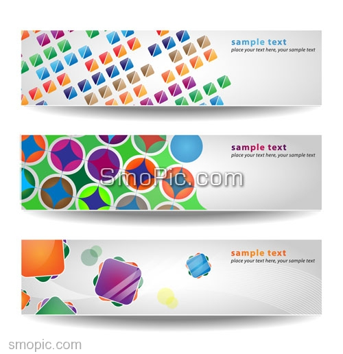 A Set Of 3 Clean Vector Banners