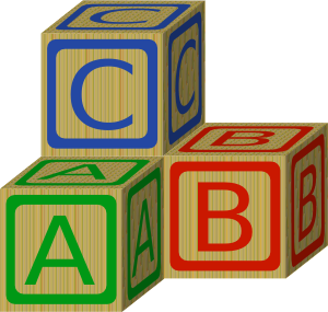 ABC Building Blocks Clip Art