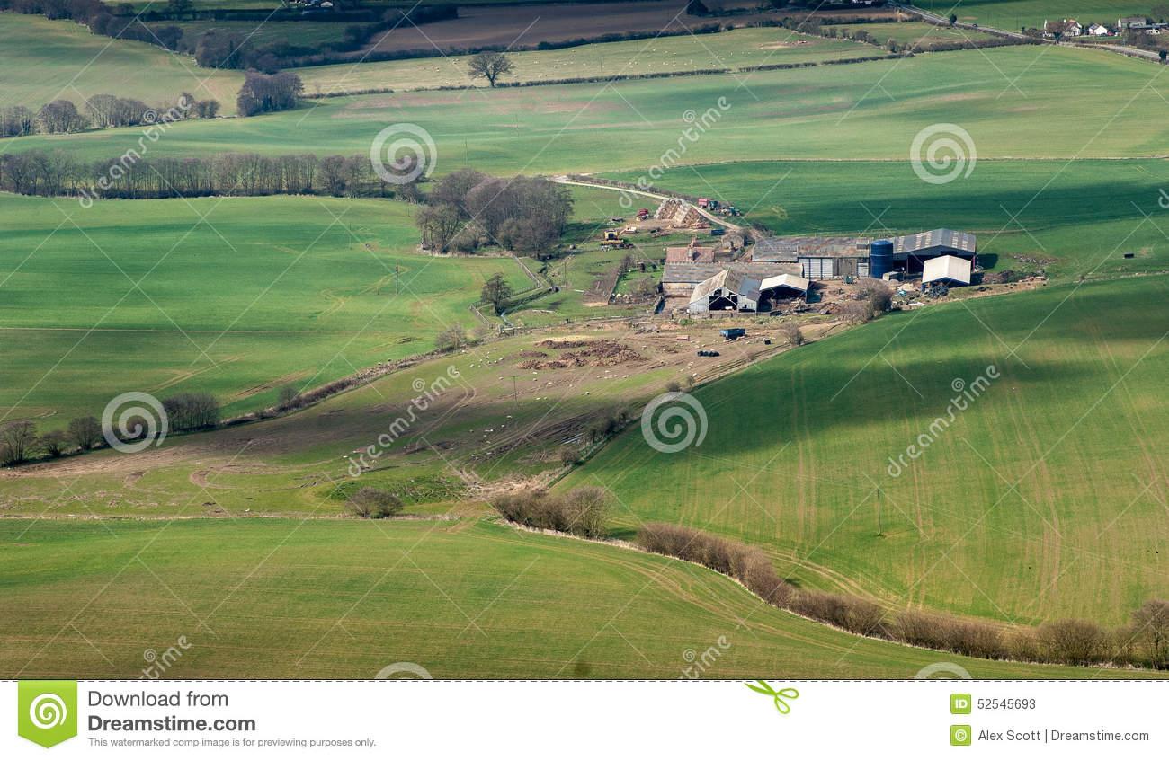 Aerial Farm Landscape