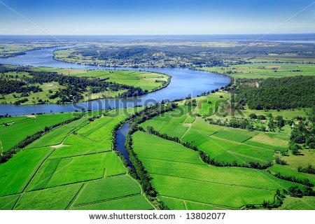 Aerial Landscape Farmland