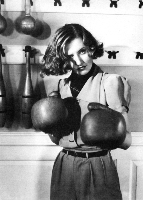 Barbara Stanwyck Boxing Gloves