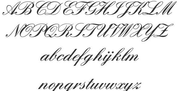 Best calligraphy fonts alphabet images free