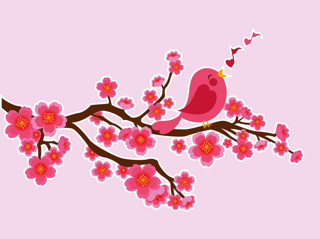 11 Vector Bird Singing Images