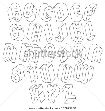Black and White Alphabet Letters Font