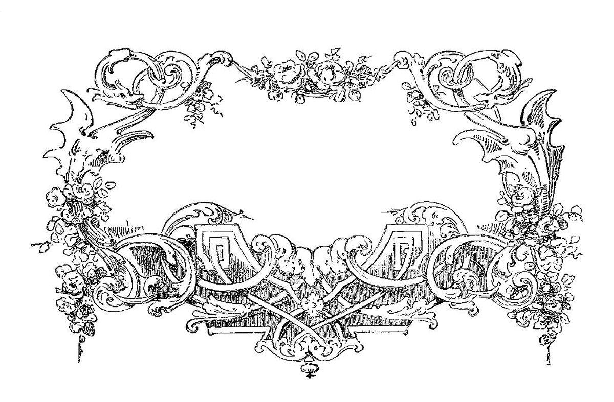 Black and White Designs Clip Art Frames