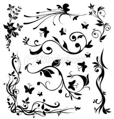 Black and White Designs Clip Art