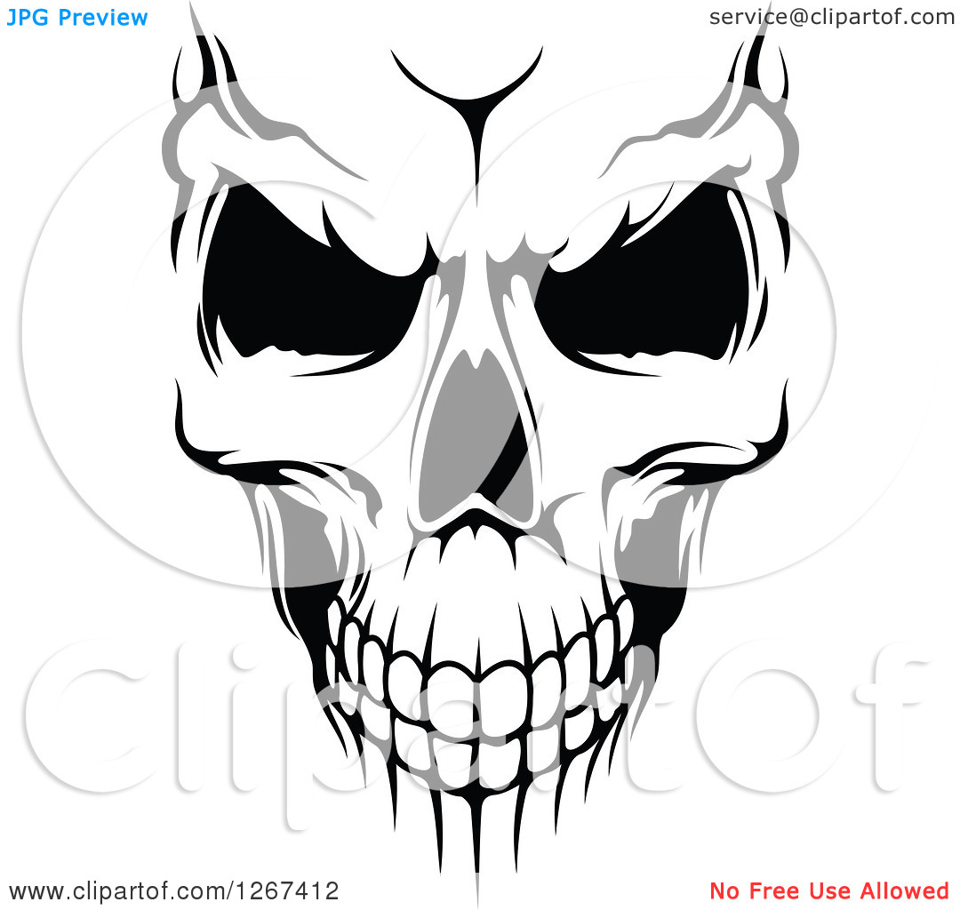 15 Evil Skull Vector Images