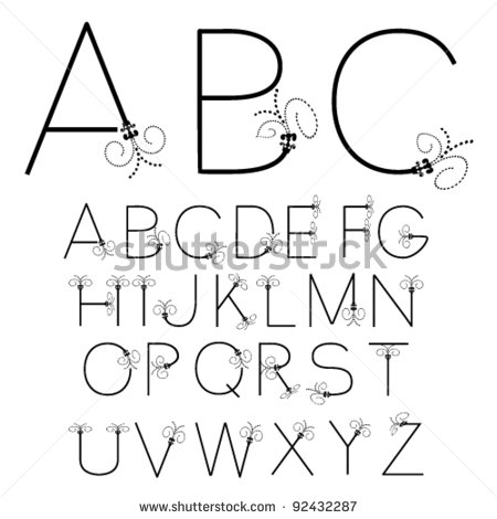 Black and White Fonts