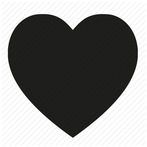 Black and White Heart Icon
