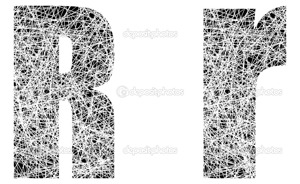 Black and White Letter Fonts