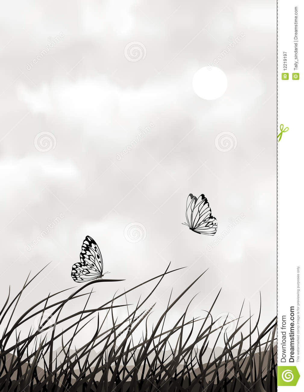 Black and White Vector Butterflies
