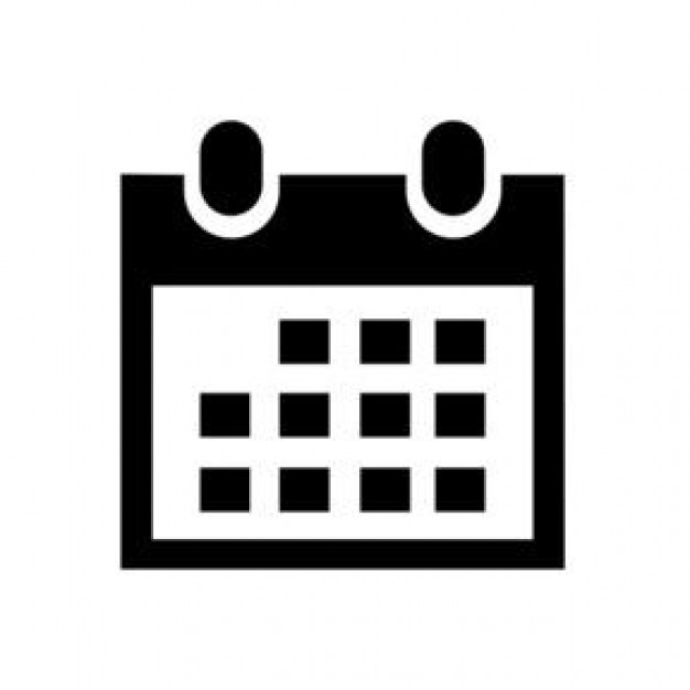 9 Black And White Calendar Icon Images