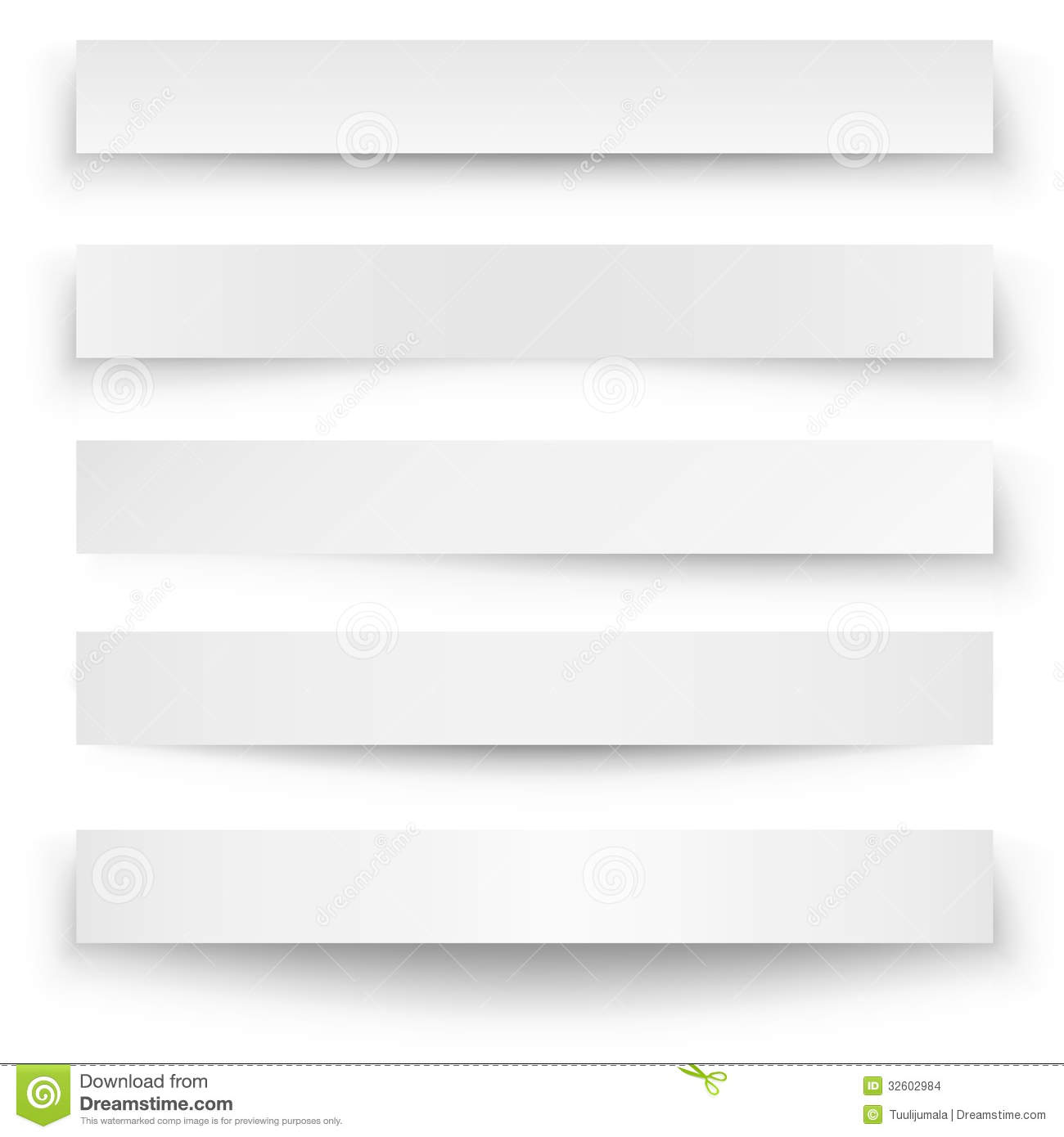 Blank Website Banner Templates