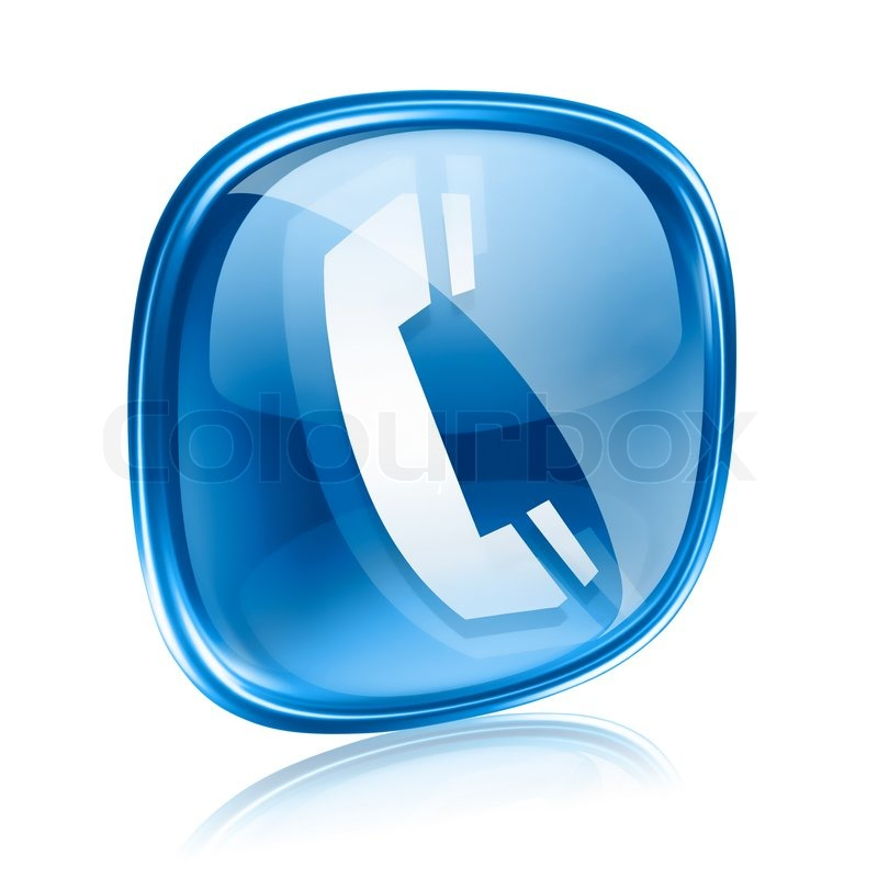 13 Phone Icons Blue Glass Images