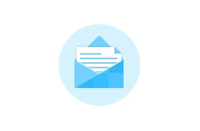 Blue Email Icon Flat