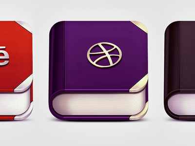 Book App Icon PSD