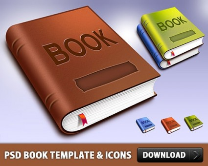 Book PSD Template Free