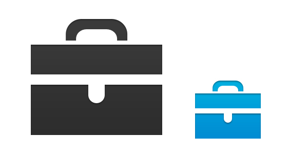 13 Photoshop PNG's Simple Briefcase Images