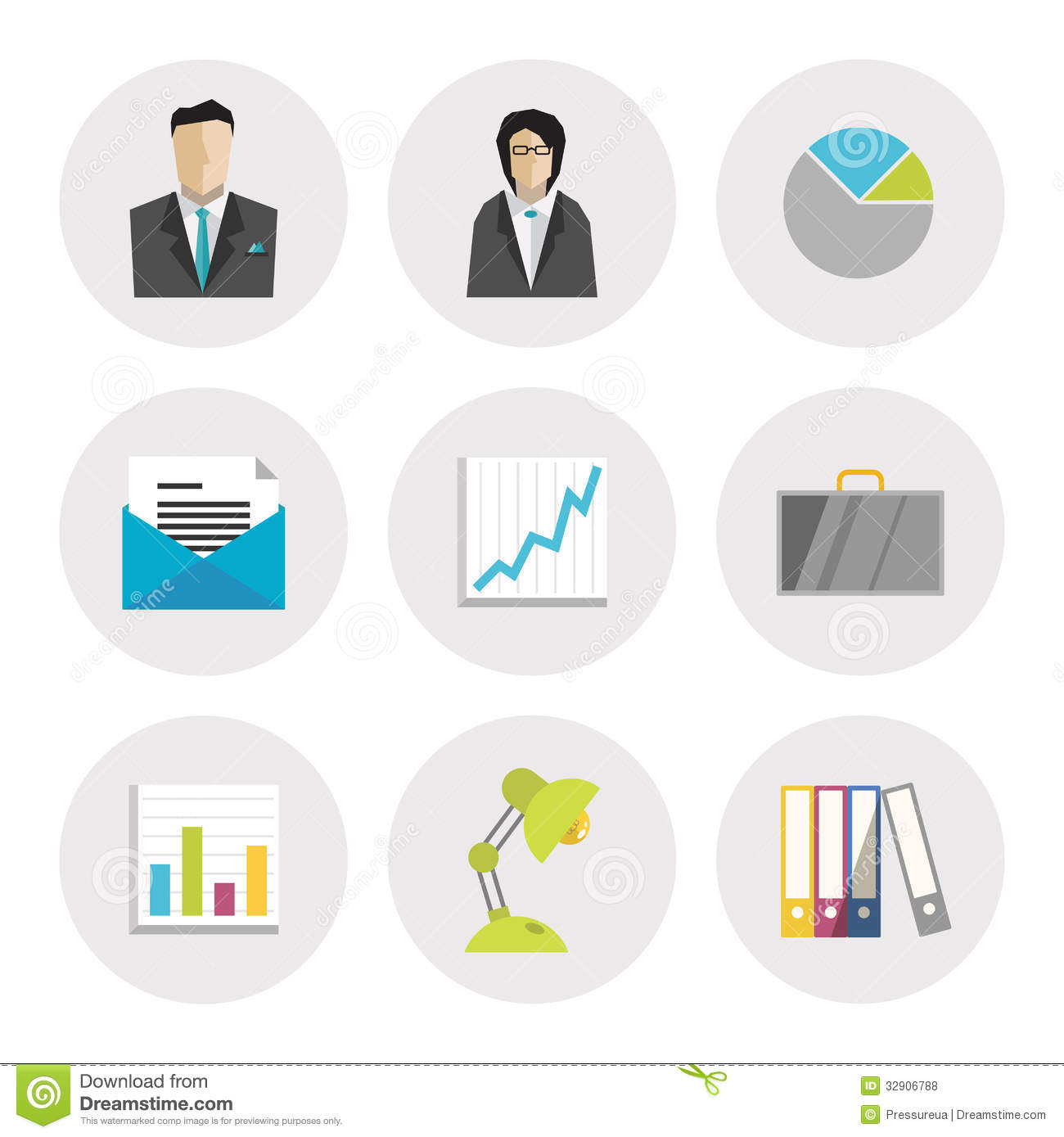 11 Business Icons Flat Images