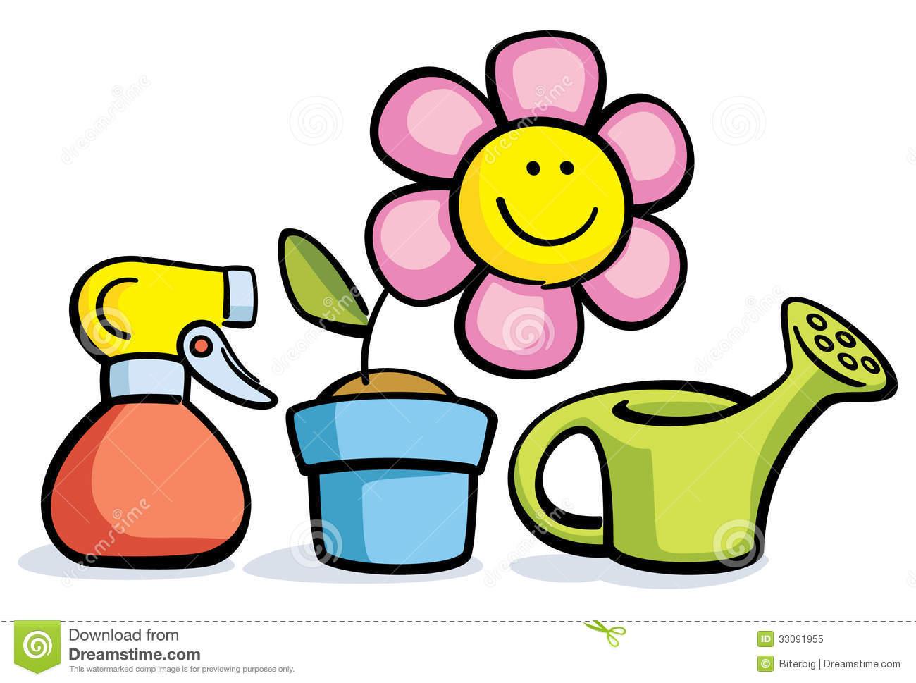 15 Pot Vector Flower Watering Plant Growing in Pot Clip Art Waterin