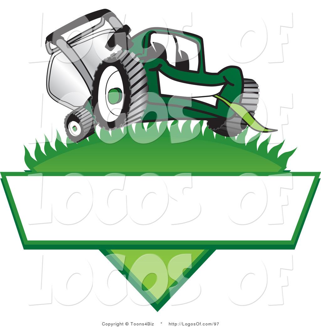 Cartoon Lawn Mower Logo