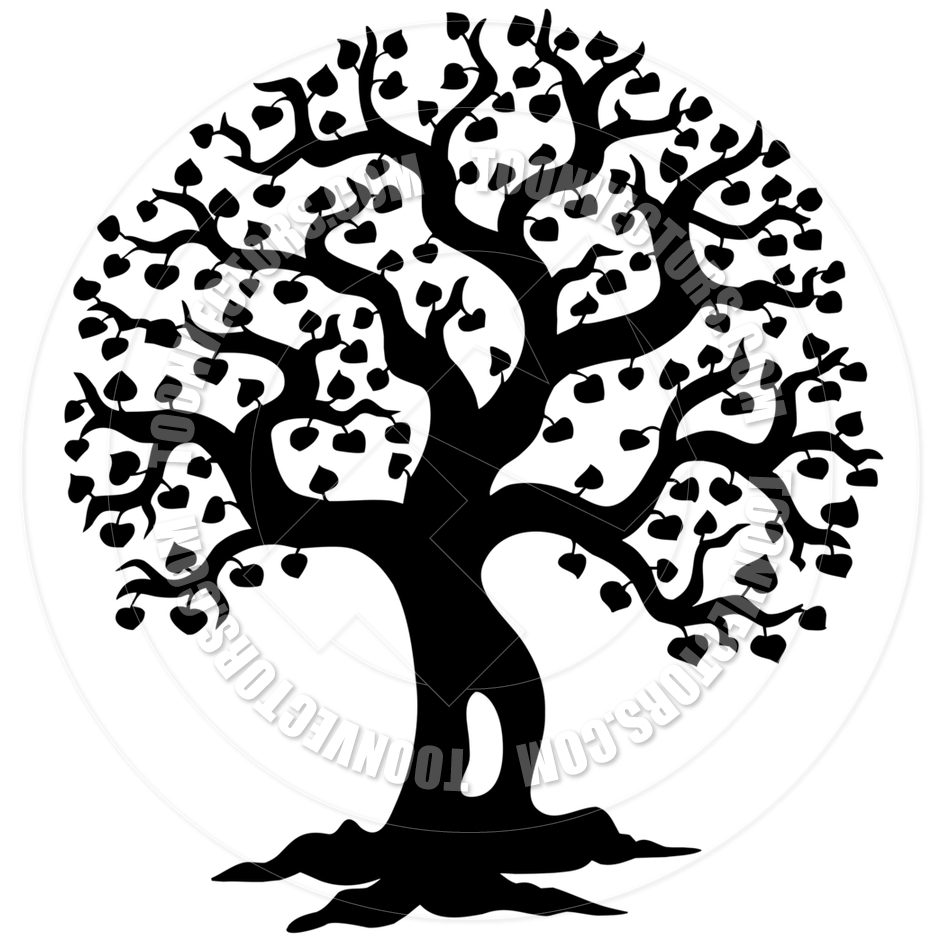 15 Cartoon Vector Tree Silhouette Art Images