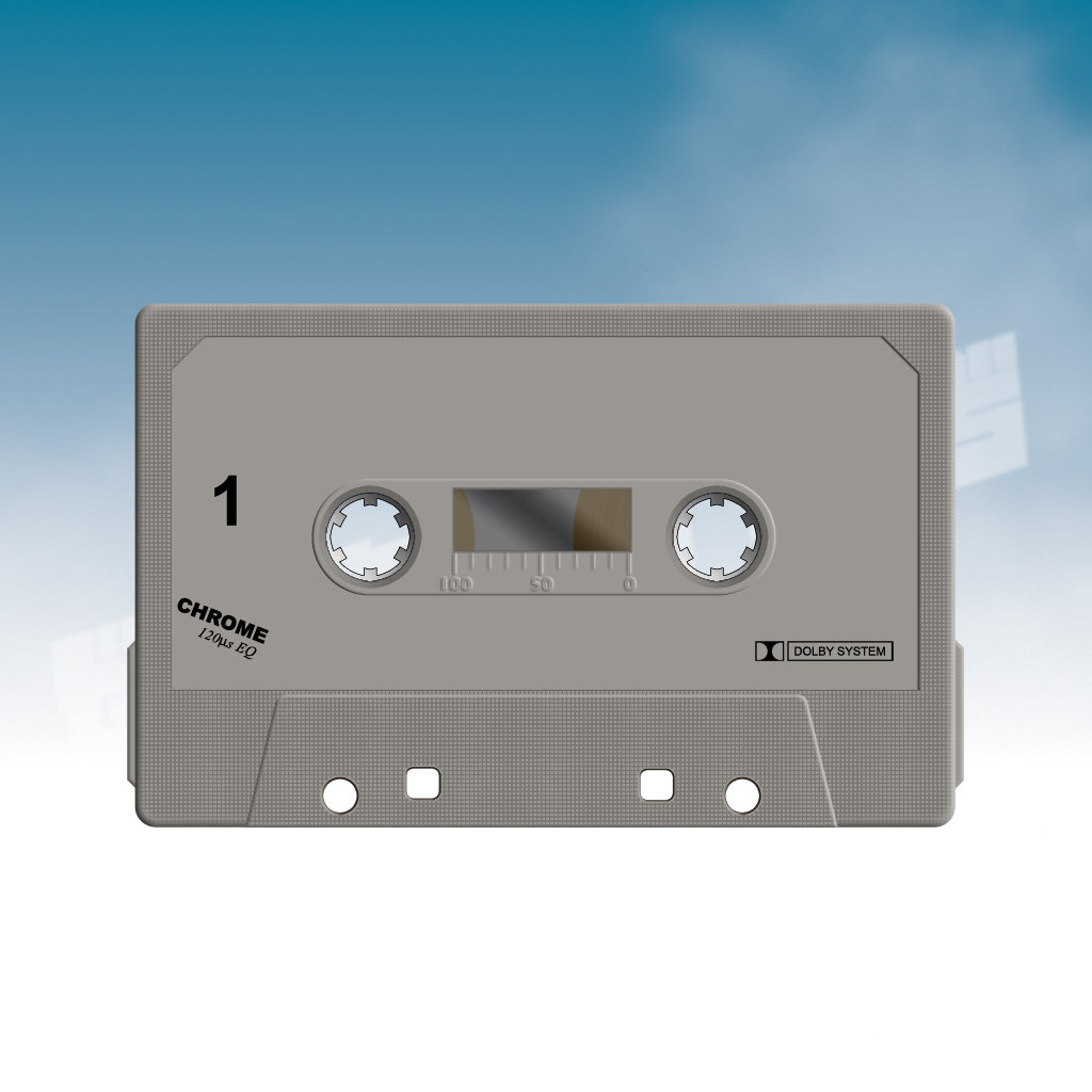 Cassette Tape Label PSD