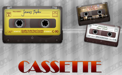 Cassette Tape Template Photoshop