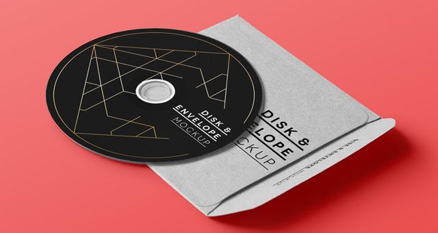 CD Mockup Psd Free