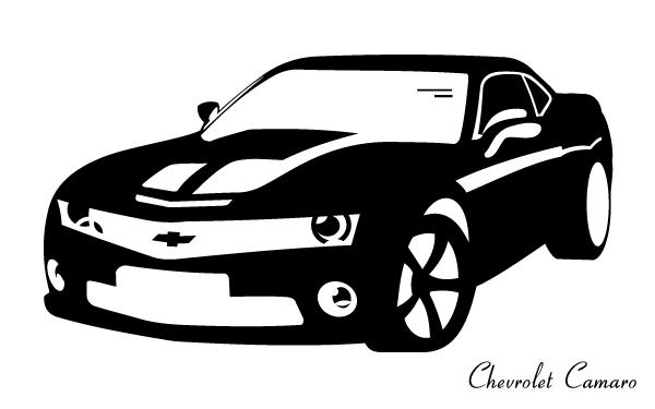 14 Free Clip Art Camaro Vector Images